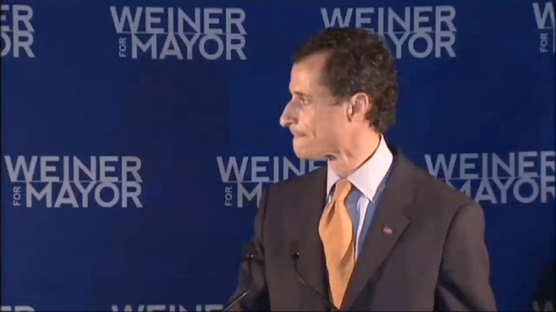 [NY] Anthony Weiner Addresses Supporters After Losing Mayoral Bid