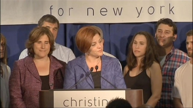 [NY] Quinn Gives Concession Speech After Losing Mayoral Bid