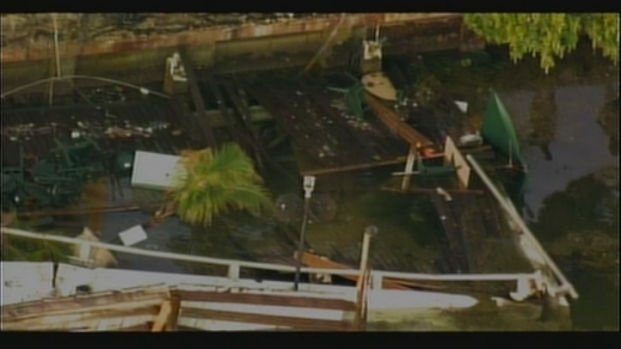 [MI] RAW VIDEO: Aerial Footage of Shuckers Deck Collapse Aftermath