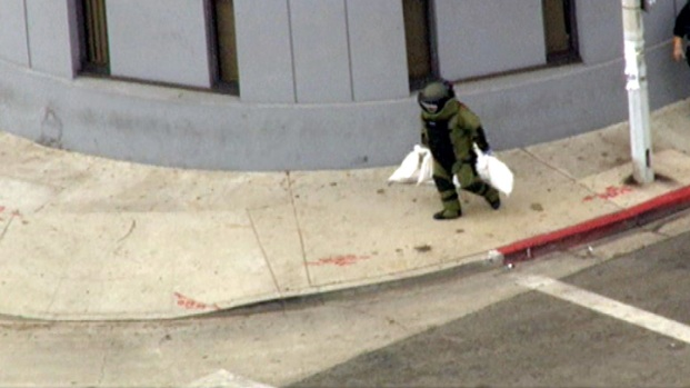 Bomb Squad Responds to East LA Bank