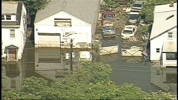 [NY] Chopper Video: Passaic Recedes, But Floods Still Rage in Paterson