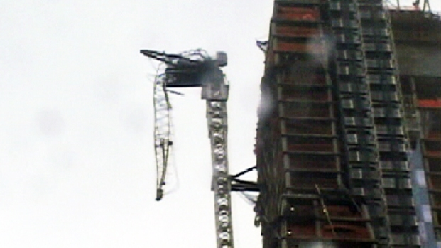 Crane Collapses on 57th Street Amid Fierce Winds