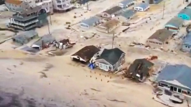 Sandy's Aftermath: Aerial Footage of Seaside Heights, NJ