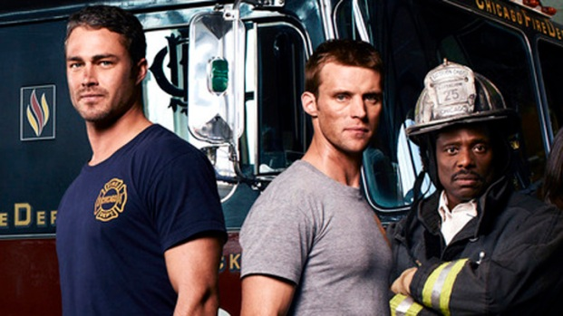 "[NBCAH] Jesse Spencer and Taylor Kinney Battle the Heat in ""Chicago Fire"""