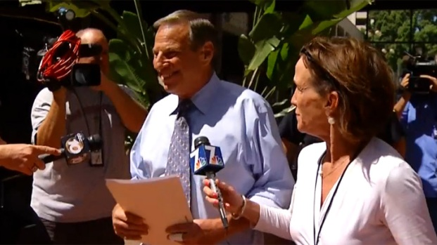 [DGO]San Diego Mayor Bob Filner Apppears in Public