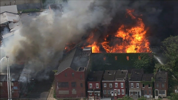 [PHI] RAW VIDEO: 12-Alarm Blaze in Camden