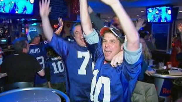 [NY] Giants Fans Celebrate NFC Title Win