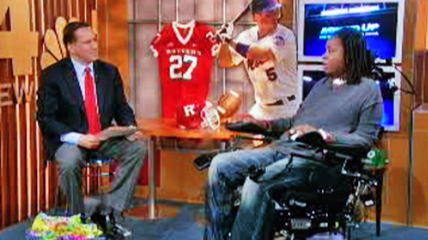"""[NY] Paralyzed Rutgers Player: """"You Got to Believe"""""""