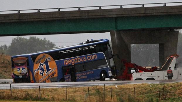 Dramatic Photos: Megabus Crash