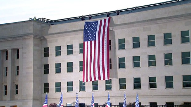 [DC] 9/11 Flag Unfurled at Pentagon