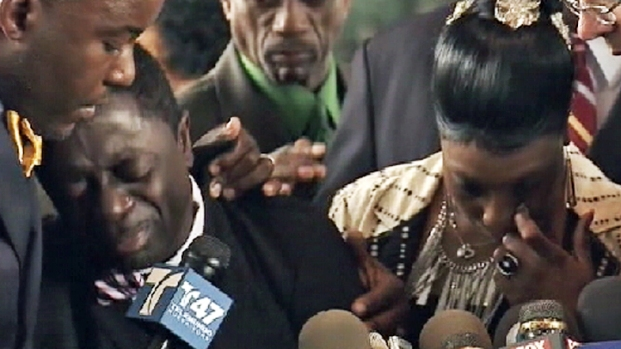 [NY] Ramarley Graham's Parents Emotional After Cop Charged