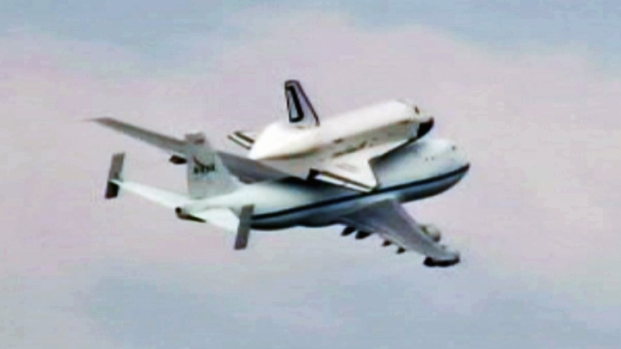 [NY] Raw Video: Shuttle Enterprise Takes Off for NYC