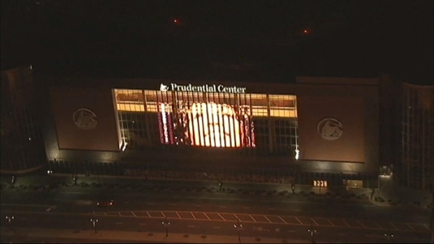 [NY] Whitney Houston Lights at Prudential Center
