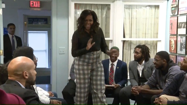 Michelle Obama Surprises Students at the Motown Museum