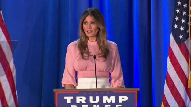 [NATL] Melania Trump Gives Rare Campaign Speech