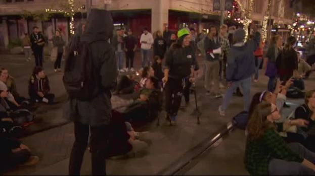 [NATL]  Raw: West Coast Protests After Trump Election