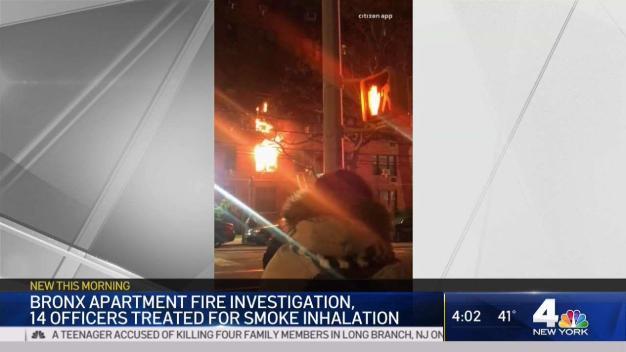 14 Cops. 8 Residents Hurt in Bronx Fire