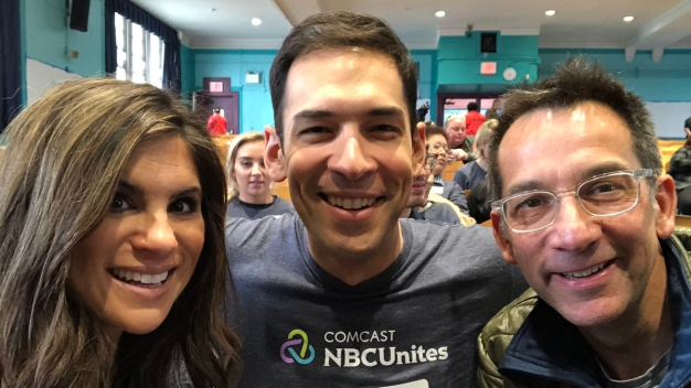 NBC 4 Team Volunteers Painting School on Comcast Cares Day