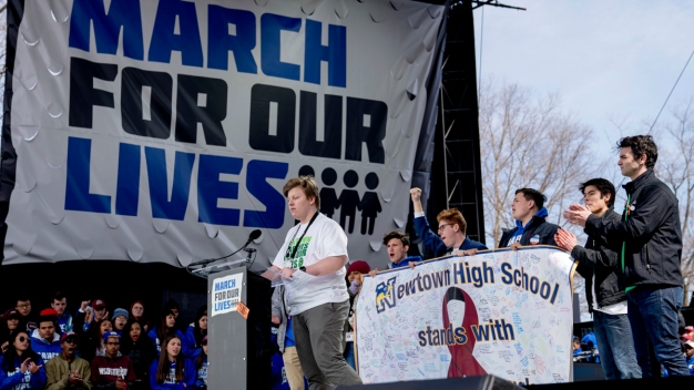 Newtown Families March With Parkland Survivors in DC