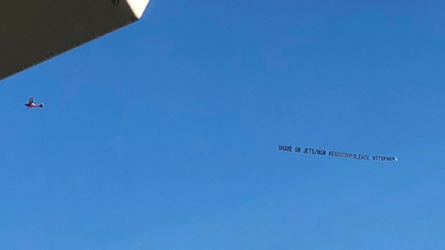 Airplane Banner Denounces Jets' Partnership With MGM