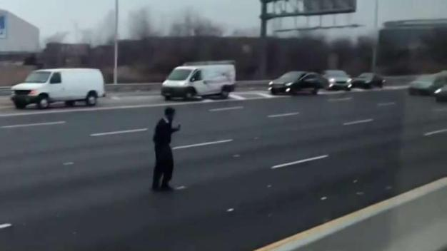 Chaos as Money Flies onto NJ Highway