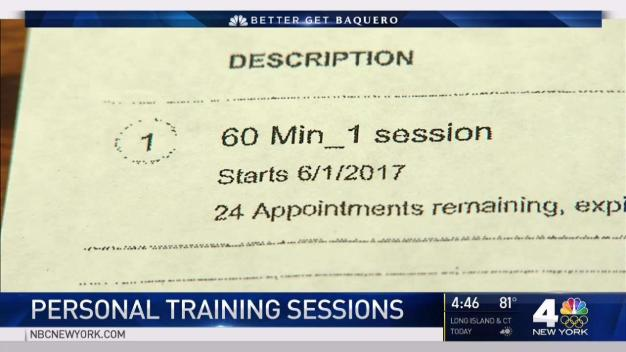 Charges for Canceling Personal Training Sessions}