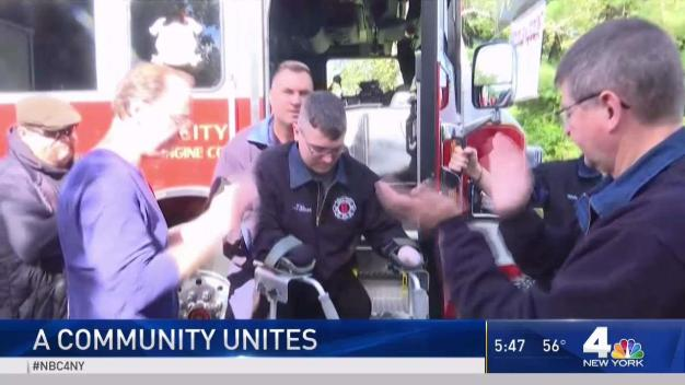 Community Comes Together to Support Firefighter