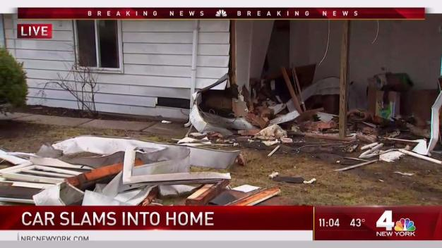 Crash Sends Car Into Long Island Home