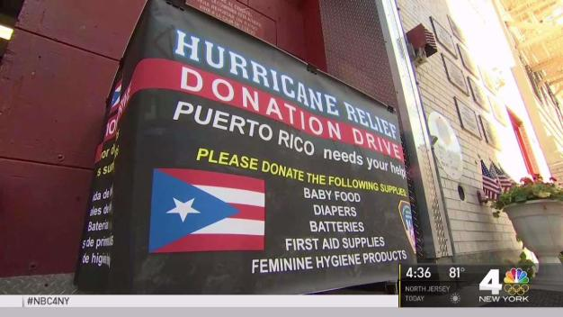 FDNY Collects Donations for Maria Victims