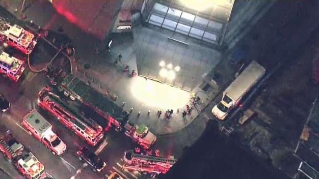 FDNY Investigates Fire at Hudson Yards Mall