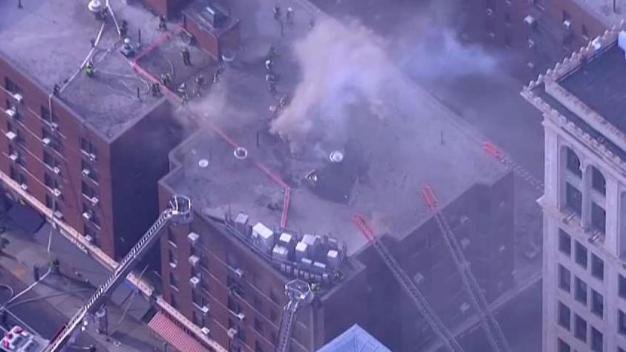 Fire Consumes Greenwich Village Building