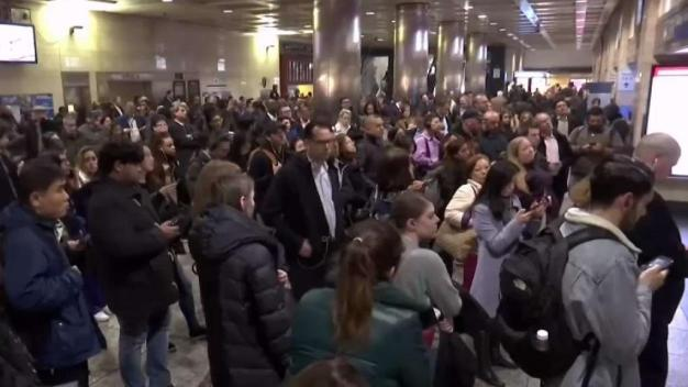 Frustrated Riders Fill Penn Station During LIRR Disruptions