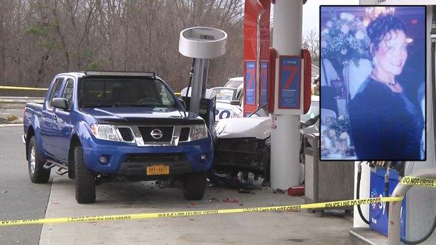 Grandmother Crushed in Gas Pump Crash Dies: Police