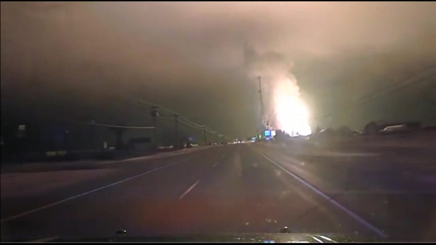 Dashcam Captures Gas Line Blast