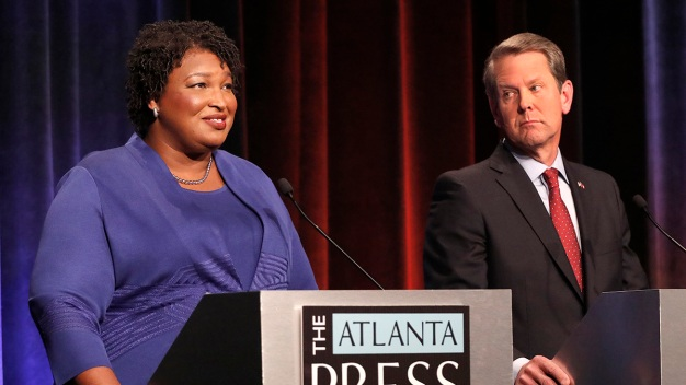 Abrams, Kemp Spar Over Voting Access in Georgia Debate