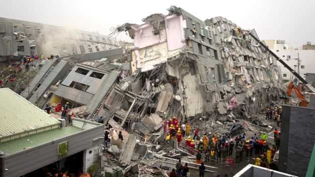 Survivor Tells of Living Through Collapse of Taiwan Building