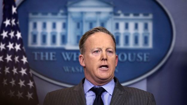 Trump Press Sec. Sean Spicer Holds First Briefing