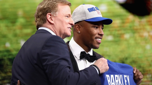 Giants Pass on QB, Take Running Back Saquon Barkley at No. 2