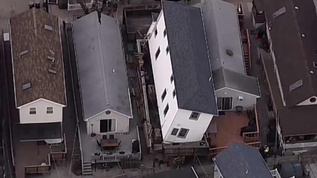Home Partially Collapses in Breezy Point