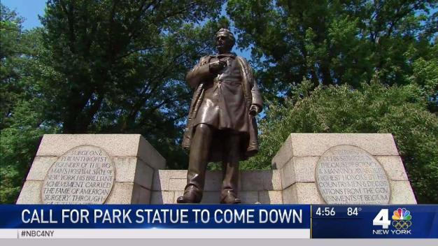 Leaders Call for Central Park Statue to Come Down