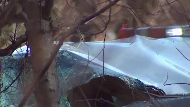 Man Crashes Stolen Cop Car on Long Island