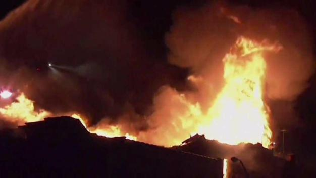 Massive Fire Tears Through Pizza Parlor in NJ
