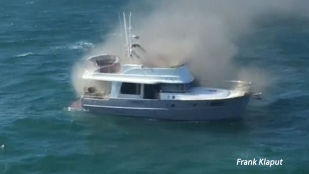 Ferry Crew Saves Family From Burning Boat