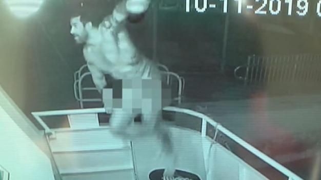 WATCH: Very Fit Naked Man Climbs Aboard Yacht, Steals Flag
