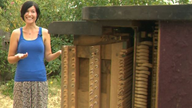 Mystery Piano Shows Up in Backyard