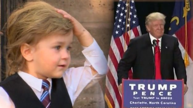 Trump's Toddler Doppelganger Turns Heads