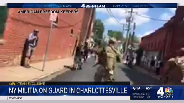 I-Team: NY Militia on Guard in Charlottesville