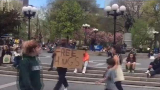 Notorious 'Free Hugs' Man Is Back Again