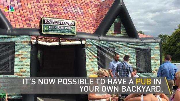 Inflate a Life-Size Pub in Your Backyard In Minutes