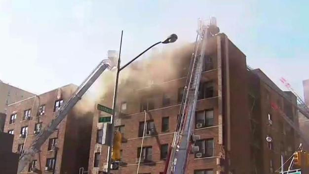 Raging Fire Burns Through Greenwich Village Building